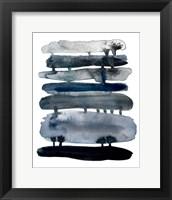 Framed Indigo Drips