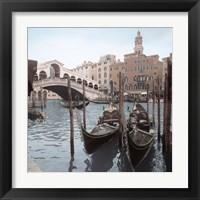 Framed Rialto Bridge Gondolas