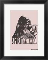 Framed Spirit Animal Gorilla