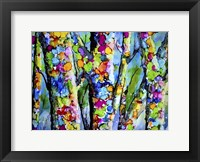 Framed Birches with Bling