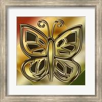 Framed Golden Butterfly