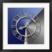 Framed Silver Clock