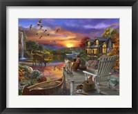 Framed Sunset Cabin
