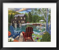 Framed Summer at the Boathouse