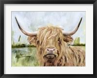 Framed Highland Grazer I