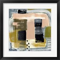 Framed Modern Geo Abstract II