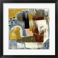 Framed Modern Geo Abstract III