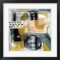 Framed Modern Geo Abstract IV