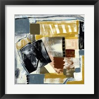 Framed Modern Geo Abstract V