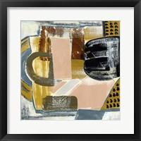 Framed Modern Geo Abstract VI
