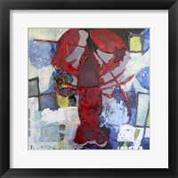 Framed Brilliant Maine Lobster I