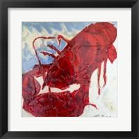 Framed Brilliant Maine Lobster II