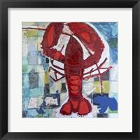 Framed Brilliant Maine Lobster III