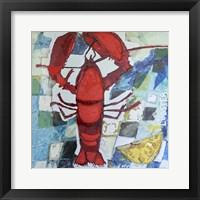 Framed Brilliant Maine Lobster IV