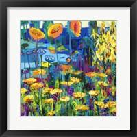 Framed Yellow Garden I