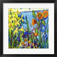 Framed Yellow Garden II