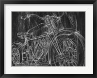 Framed Motorcycle Mechanical Sketch I