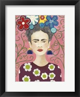 Framed Frida Floral I