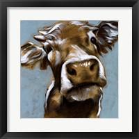 Framed Cow Kisses I