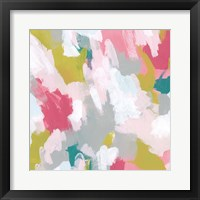 Framed Pink Scramble I
