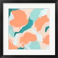 Framed Peach Fizz I