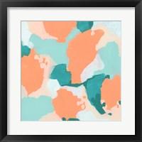 Peach Fizz II Framed Print