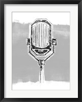 Framed Monochrome Microphone III