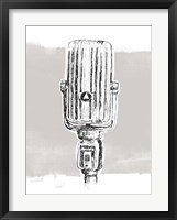 Framed Monochrome Microphone IV