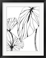 Linear Tropics II Framed Print