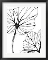 Linear Tropics III Framed Print