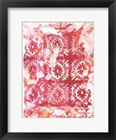 Framed Global Fuchsia I