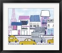 Bonjour Paris I Framed Print