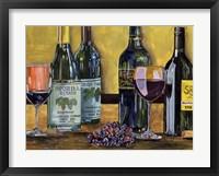 Framed Still Life with Wine I