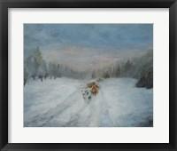 Framed Journey Through the Snow IV