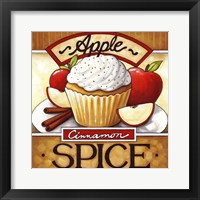 Framed Cupcake Apple Cinnamon  Spice