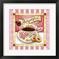Framed Tea Delightful Pink Teacup