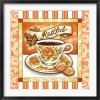 Framed Tea Restful Orange Teacup