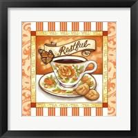 Framed Tea Restful Orange Teacup