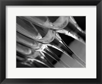 Framed Champagne Flutes In A Row 2