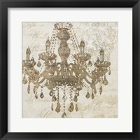Framed Bronze Chandelier IV