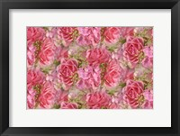 Framed Pink Roses and Hydrangea
