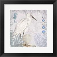 Framed Waders II Little Egret