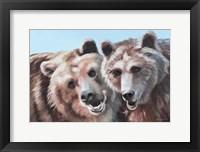 Framed Brown Bears