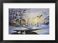 Framed Snow Geese, Cabin