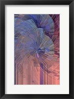 Framed Pink, Blue and Purple