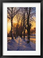 Framed Snowy Evening