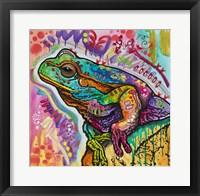 Framed Psychedelic Frog