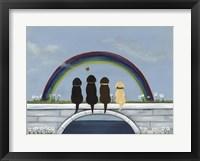 Framed Rainbow Bridge Dogs