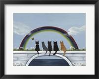 Framed Rainbow Bridge Kitties