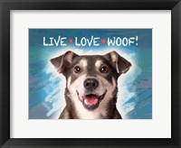 Framed Live Love Woof